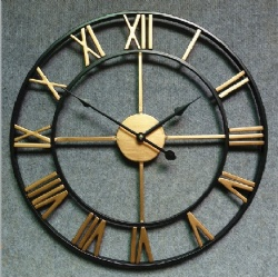 Large Size Metal Wall Clock